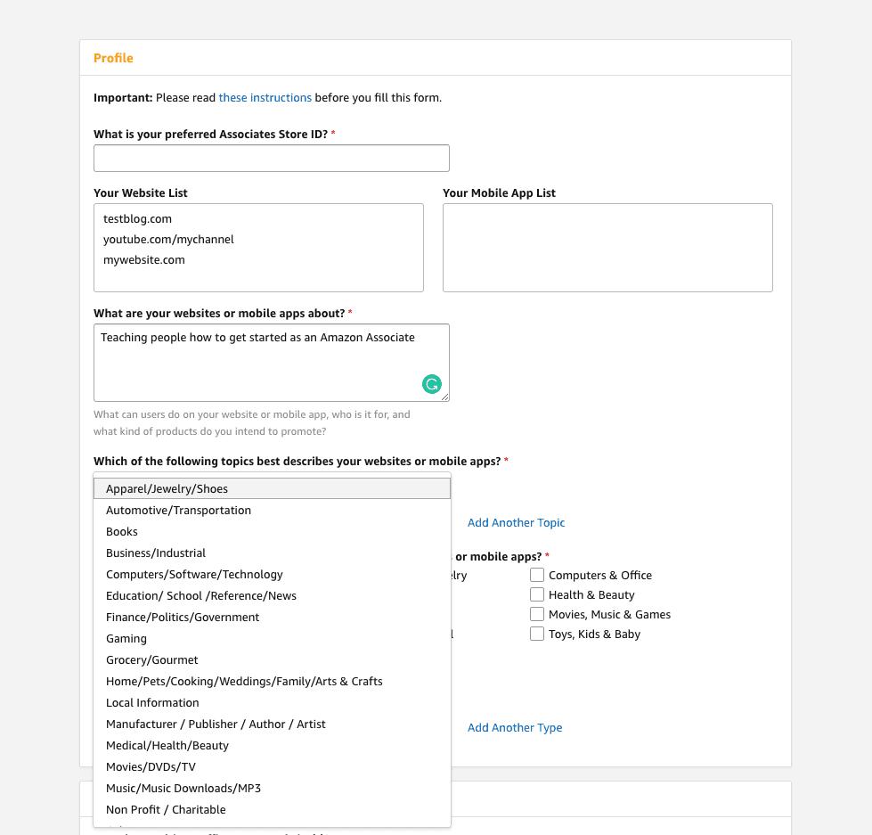 amazon-affiliate-profile